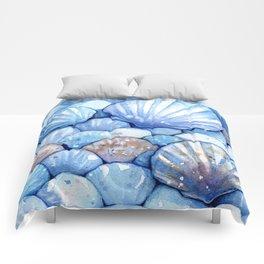 Sea Shells Aqua Comforters
