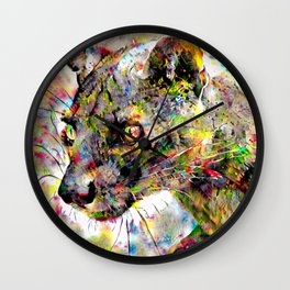 Babou the ocelot Wall Clock