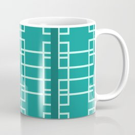 Midcentury Modern Geometric Turquoise Coffee Mug