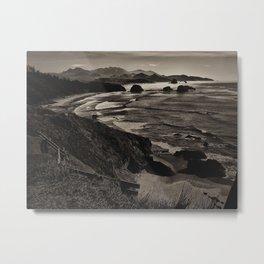 Seascape Ecola State Park Metal Print