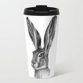 Cute Hare portrait G126 Travel Mug