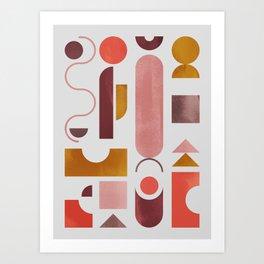 Geometric Shapes 2 Art Print