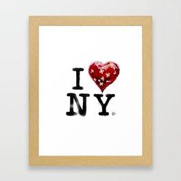 Banksy * I Love New York Framed Art Print