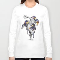 planet of the apes Long Sleeve T-shirts featuring Apes Statue by Birgit Palma
