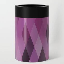 Muted Berry Color Harlequin Pattern Can Cooler