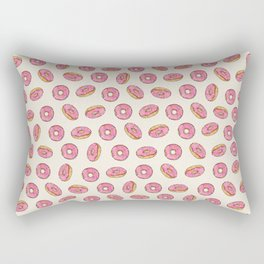 Strawberry Donuts on Cream Rectangular Pillow