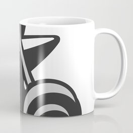 Barbell Dumbbell Anvil Grayscale Coffee Mug