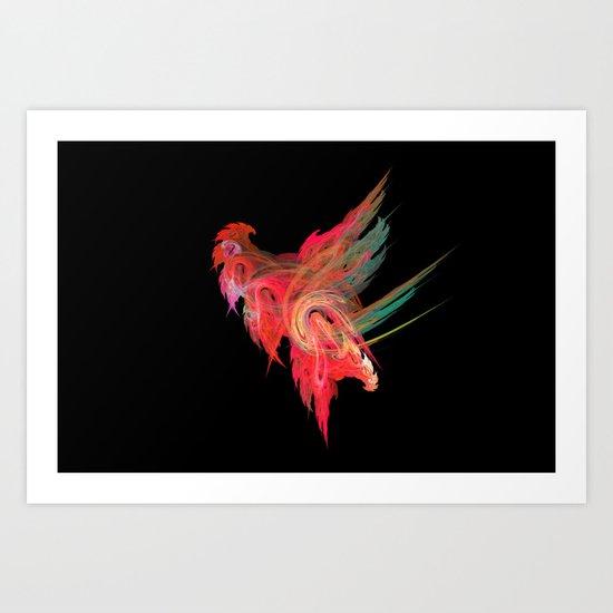 Cocky cock Art Print