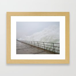 The Violence is Here Framed Art Print