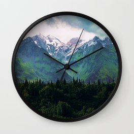 Escaping from woodland heights III Wall Clock