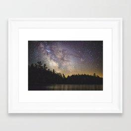 Milky Way in Algonquin Park Framed Art Print