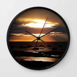 Copper Seascape Delight Wall Clock
