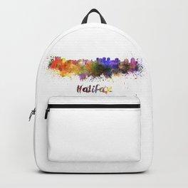 Halifax skyline in watercolor Backpack