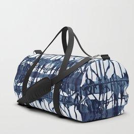 Indigo Paper Shibori Duffle Bag