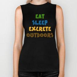 Eat Sleep Excrete Outdoors Biker Tank