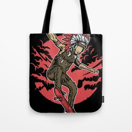 Indian Chief Skateboard Tote Bag
