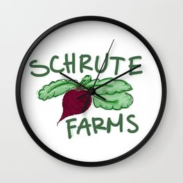 Schrute Farms Wall Clock