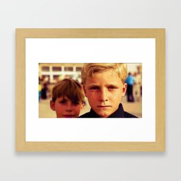 Kurdish Boys 2 Framed Art Print