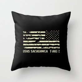 USNS Sacagawea Throw Pillow