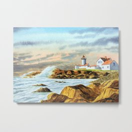 Stormy Weather Eastern Point Lighthouse Gloucester MA Metal Print