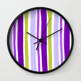 Waiting for spring stripes Wall Clock