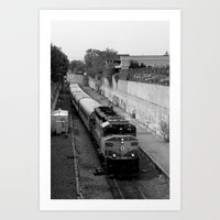 trainspotting Art Prints featuring Trainspotting  by Plecinoga Photography