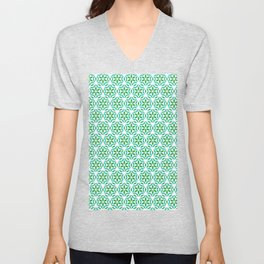 Retro bold floral daisies seamless pattern. Unisex V-Neck