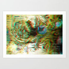 Analogical 3d Roots Art Print