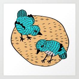 Cooky Birds Art Print