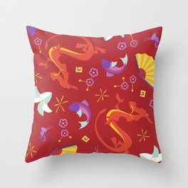 Dishonor on Your Cow Throw Pillow