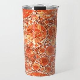 Rust Orange Bubble Abstract Travel Mug
