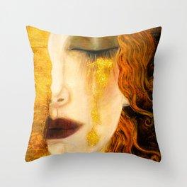 Freya's Golden Tears Viking Lore Throw Pillow