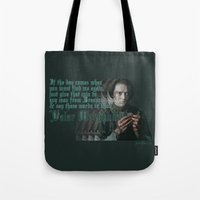 valar morghulis Tote Bags featuring Arya Stark, Valar Morghulis by Your Friend Elle