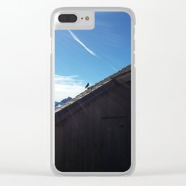 Bird on the roof Clear iPhone Case