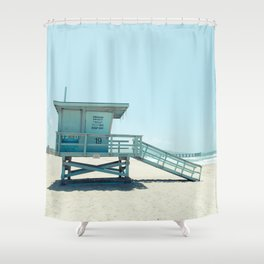 Hermosa Beach Lifeguard Tower 19 Shower Curtain