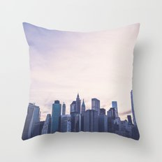 Lower Manhattan Skyline Throw Pillow