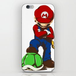 Mario Videogame Turtle Hunter Design FanArt Art Print iPhone Skin