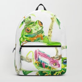 Happy tree frogs Backpack