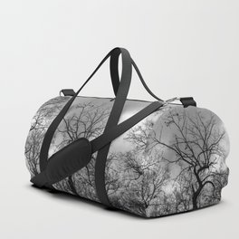 Witchy black and white tree Duffle Bag