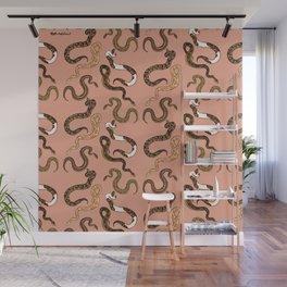 Plenty of Pythons - Peach Wall Mural