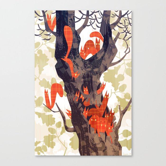 The Devils of Dark Bark Canvas Print