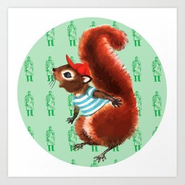 Squirrel Meat Art Print