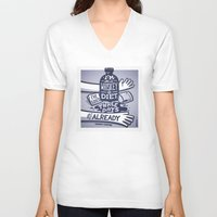 whiskey V-neck T-shirts featuring Whiskey by hugraphic