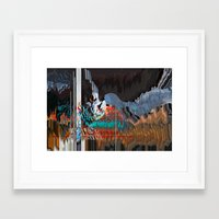 reassurance Framed Art Prints featuring The Swan Reassurance by Alix Rumble 2