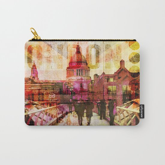 London St. Pauls Cathedral modern illustration typography Carry-All Pouch