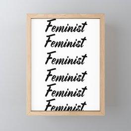 Feminist (on white) Framed Mini Art Print