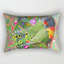 Fantasy Garden Lorikeets Rectangular Pillow