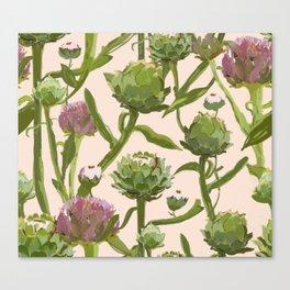 artichoke flowers Canvas Print