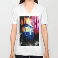 dr who V-neck T-shirts featuring dr who by shannon's art space