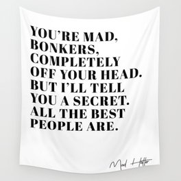 mad hatter Wall Tapestry